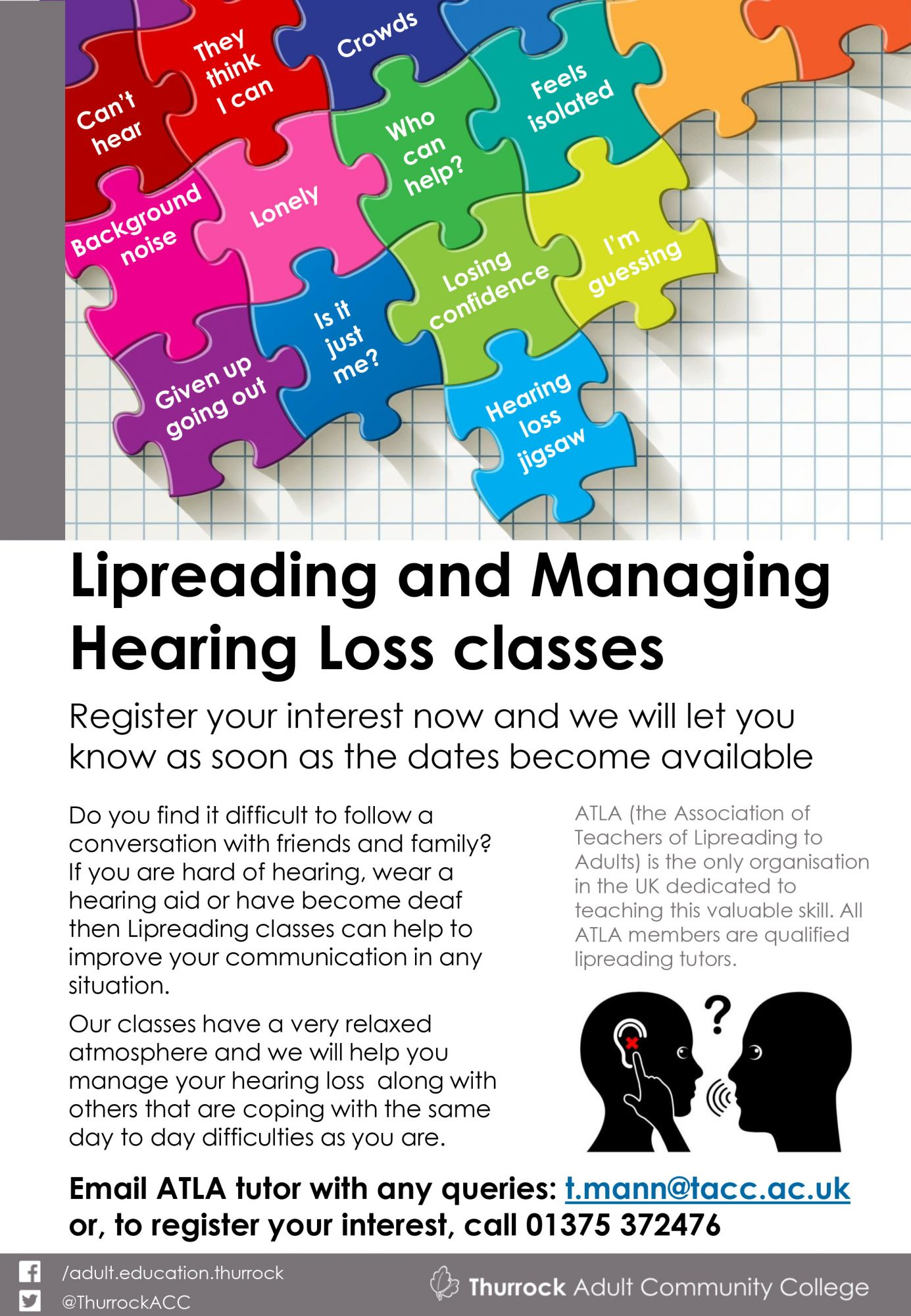New Lipreading class in Grays, Essex